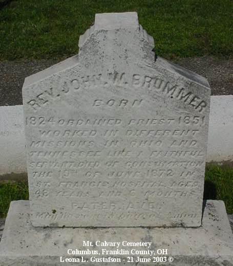 Cemetery Photos, Franklin County, Ohio: Mount Calvary