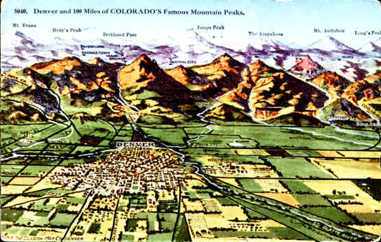 Denver and 100 Miles of Colorado Mountain Peaks