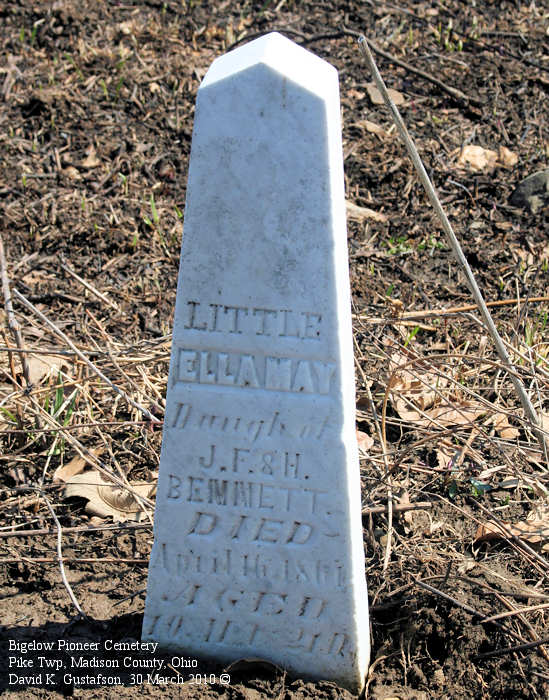Madison County, Ohio Cemetery Photos: Bigelow Pioneer