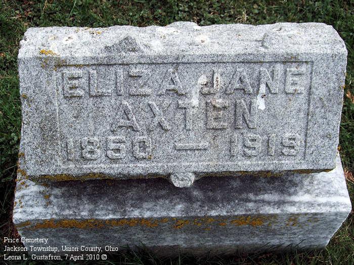 Union County Ohio Gravestone Photos