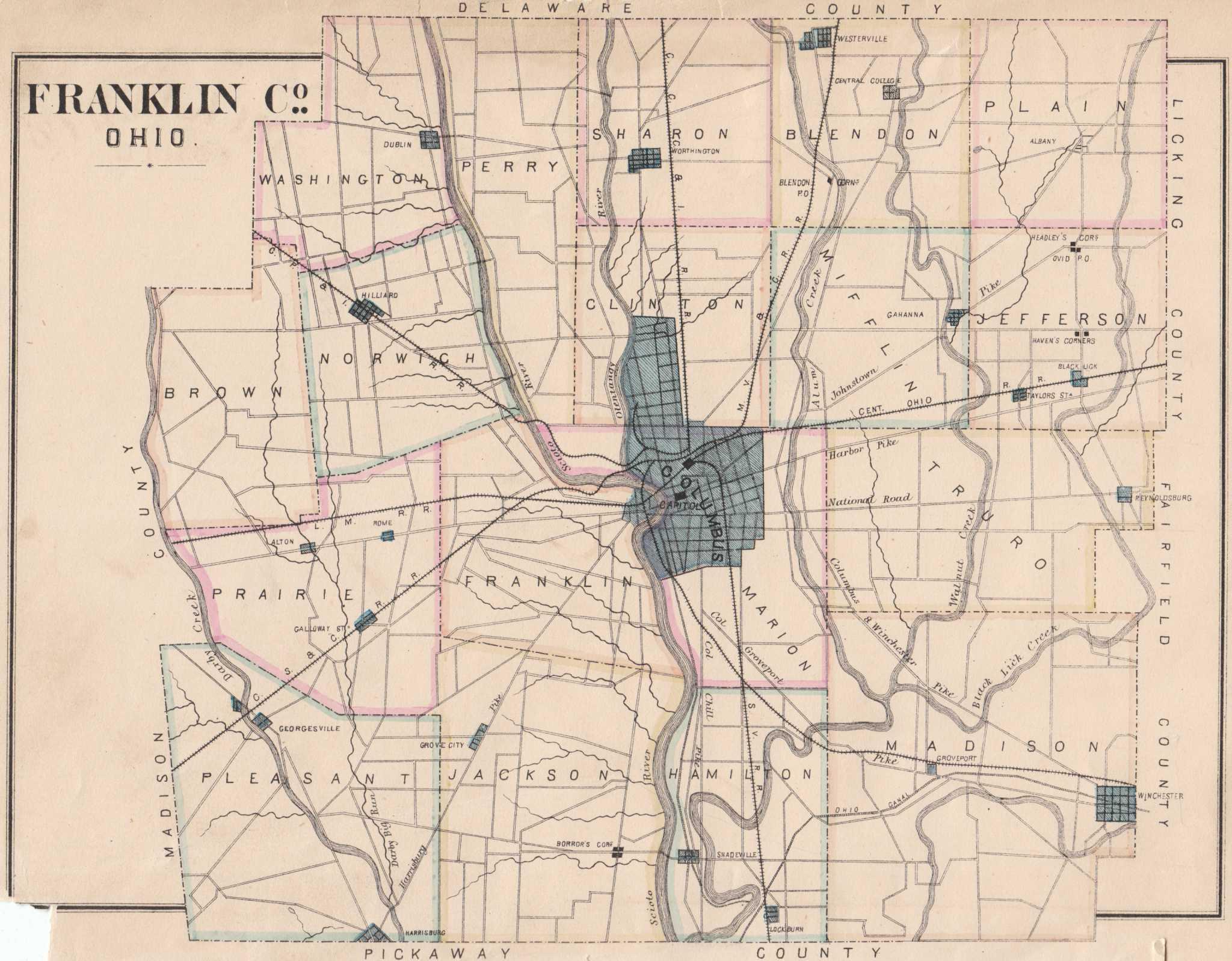 Franklin County, Ohio History & Genealogy; Franklin County, Ohio ...